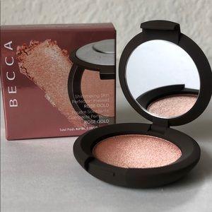 $8 Add-On BECCA Pressed Highlighter Rose Gold Mini